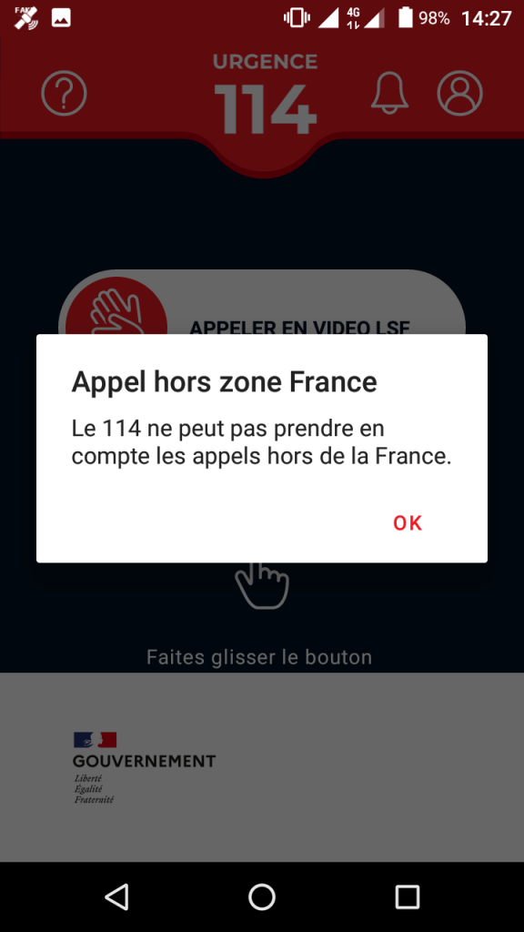 Appel hors zone France